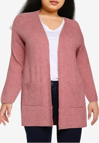 Only CARMAKOMA orange Plus Size Atija Long Sleeves Knit Cardigan 58932AA62124E8GS_1