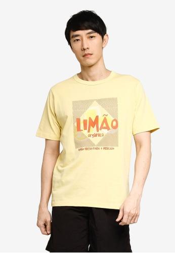 GLOBAL WORK beige Graphic T-Shirt F88BEAA36AE0ADGS_1