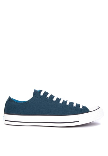 Converse blue Chuck Taylor All Stars Seaonal Color Canvas Sneakers 1D035SH0BFF225GS_1