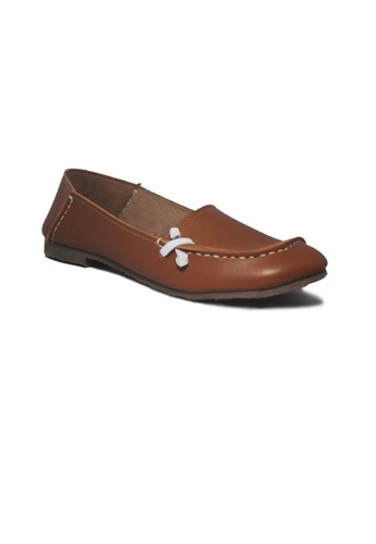 D-Island brown D-Island Flat Shoes Women Slip-On Tape Brown DI594SH18TSBID_1