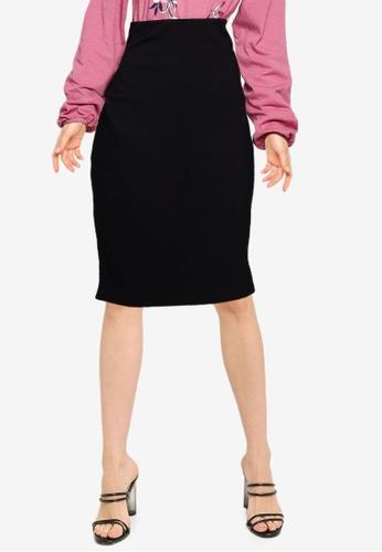 LC WAIKIKI black Zippered Flexible Pencil Skirt 6A943AA4FFA270GS_1