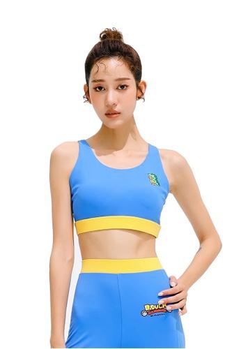 B.Duck blue B.Duck Women Training Sports Bra 04071US6C87C09GS_1