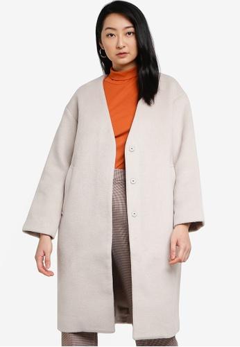 LOWRYS FARM white Knit Coat 750CDAAA305C2FGS_1