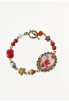 WLB014 Women's Bracelet with Beads and Flower Photo
