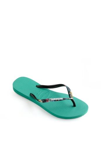 Havaianas green Slim Strapped Flip Flops 3056DSH8881430GS_1