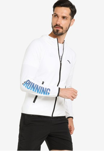 Anta white Running Knit Track Jacket 97C36AA3BB4538GS_1
