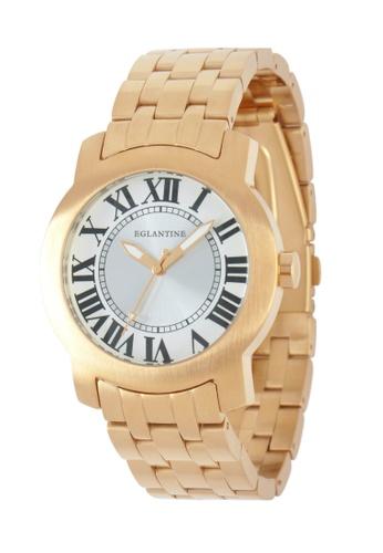 EGLANTINE gold EGLANTINE® Emile Unisex Rose Gold Plated Steel Quartz Watch on Rose Gold Plated Steel Bracelet B543EACAE44771GS_1