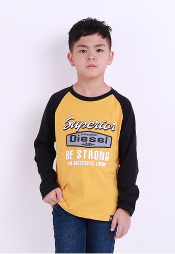 low priced d2a3d fb48f Diesel Kids Graphic Tee Long Sleeve