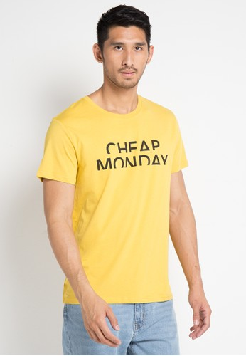 Cheap Monday yellow and multi Standard Tee Spliced Cheap 121F5AA560784EGS_1