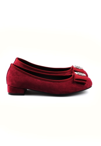 SHINE red METAL EMBELLISHED FLATS SH554SH99YDGSG_1