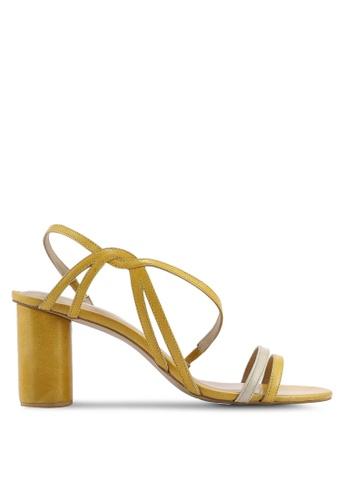 OCEEDEE 黃色 質感高跟鞋 C98A8SH12760D8GS_1