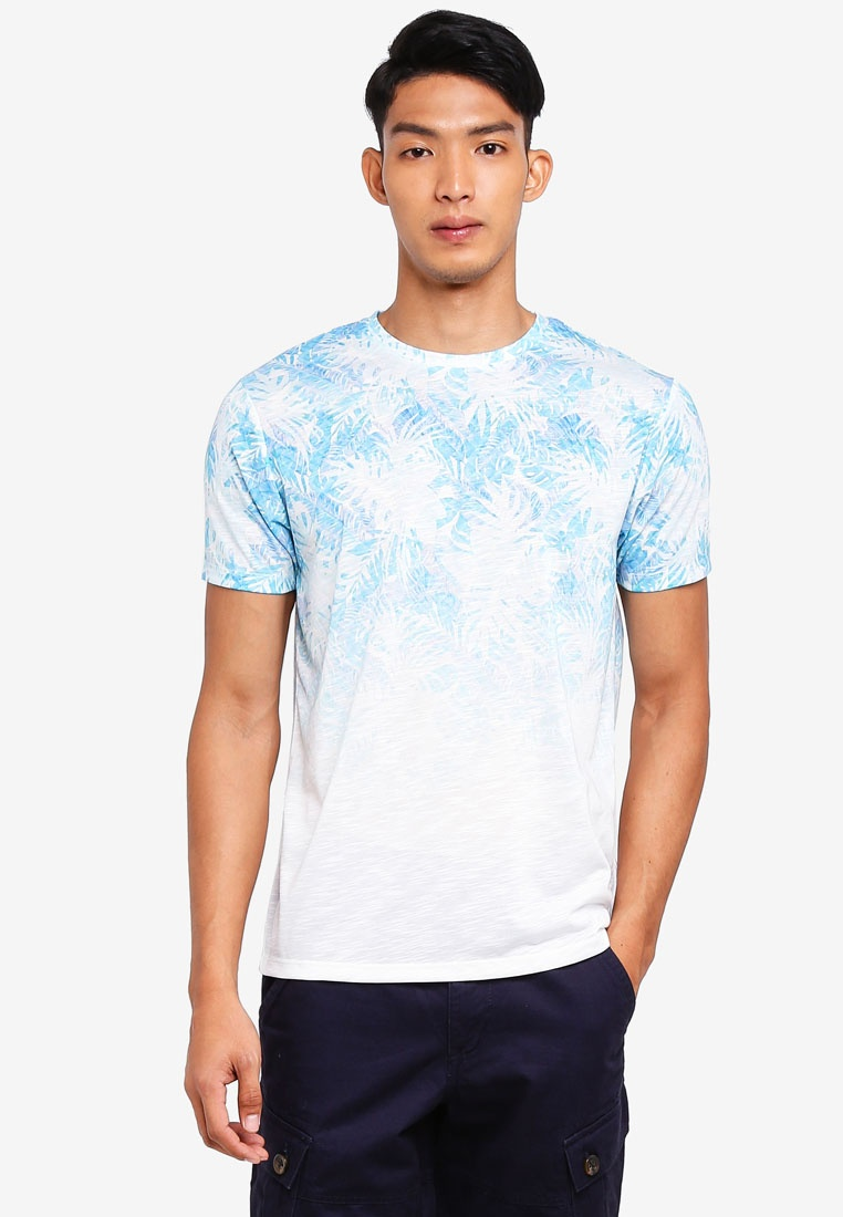 Light London Burton Sky Menswear Fade Blue Blue Shirt T Floral 06Xc708nv