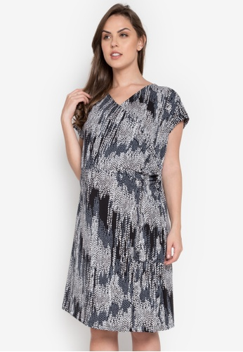 Hint grey Maternity Printed Short Sleeve Dress HI373AA0KJ7JPH_1