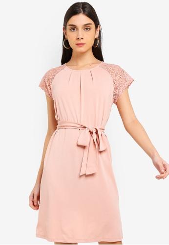 Vero Moda pink Alberta Lace Dress 127BBAA37D14B9GS_1