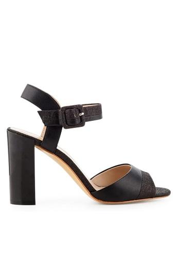 Minelli black F93 045 Glittered Leather Sandals - Mahe MI352SH30MGNSG_1
