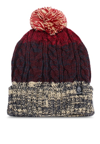 Burton Menswear London red Red Rust Cable Bobble Beanie Hat  02FF0AC1E083C7GS 1 689ad4929d2