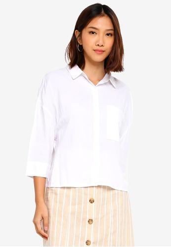 Cotton On white Rebecca Chopped Shirt 9110EAAE97AA57GS_1