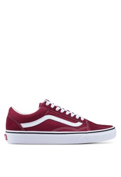 d4e3a39b89 VANS white and red Old Skool Sneakers 1CA11SHF4428DCGS 1