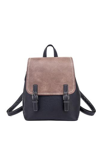 Twenty Eight Shoes black VANSA Colour Matching Backpacks VBW-BpN0093S CD30EAC0F23EF3GS_1
