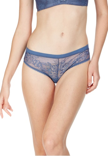 6IXTY8IGHT navy Dasha Solid, Lace Micro Clean Cut Hipster Panty PT09878 96BB0US3622488GS_1