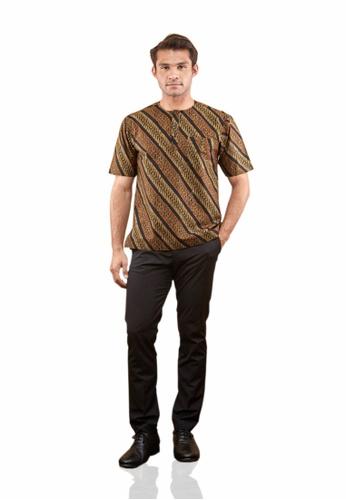 TUSCA brown Adiwangsa Batik Shirt 36E9EAAC58B348GS_1