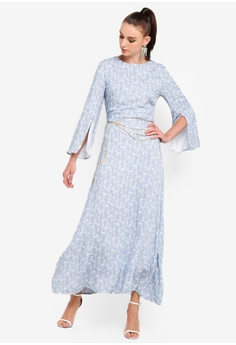 347a43d433e56 42% OFF Zalia Embellished Chiffon Slit Sleeves Dress RM 175.00 NOW RM  101.90 Sizes XS S M L XL