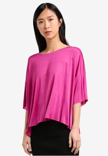 Mango pink Fine-Knit T-Shirt MA193AA0RXRDMY_1