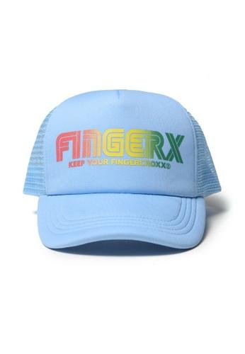 Fingercroxx blue Logo mesh panel cap 23BE2AC80E46CEGS_1