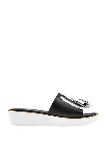 CO BLANC black CO BLANC Tassel Details Slide Sandals A99C2SH1127BA8GS_1