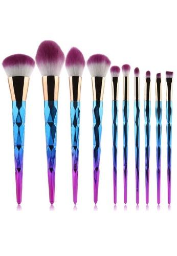 Mythss blue Unicorn Brush Set – Diamond 10 Pcs Set. MY493BE48KKLHK_1