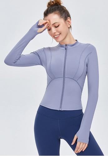 Twenty Eight Shoes blue VANSA Fashion Slimming Yoga Jacket VPW-Y0009 F07A2AA6553B8BGS_1