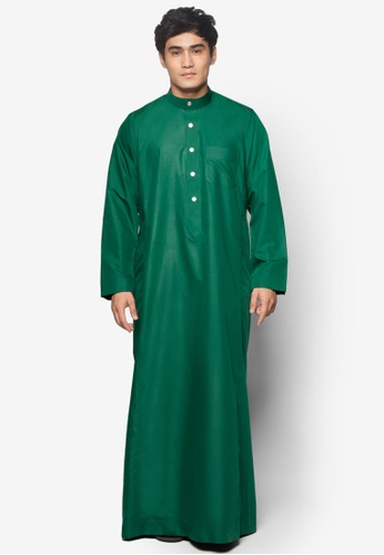 Amar Amran green Jubah A Regular Fit AM362AA20NBFMY_1