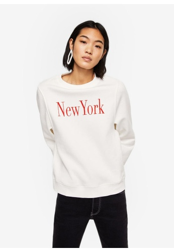 Mango white Message Pattern Sweatshirt 2630EAADA842E3GS_1