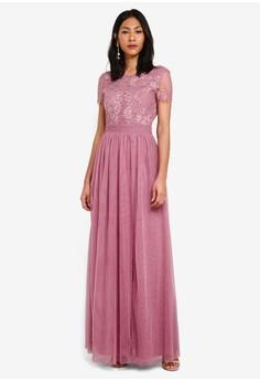 d0064236762 Little Mistress pink Lace Maxi Dress 0473DAA9490DF5GS 1