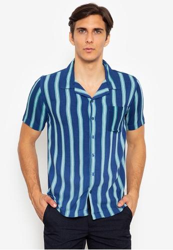 Zeb & Beileag blue Jay Open Collar Shirt 81D16AA833B67DGS_1