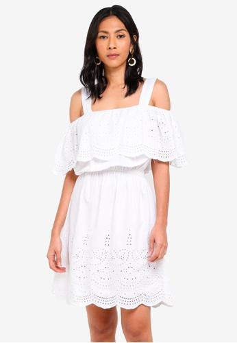 OVS white Woven Dress With Openwork C45C9AA70F0E62GS_1