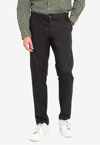 Sisley black Slim Fit Chinos 36624AA57C5AC8GS_1