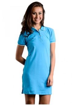 Newyork Army Polo Fit Shirt Dress - Blue