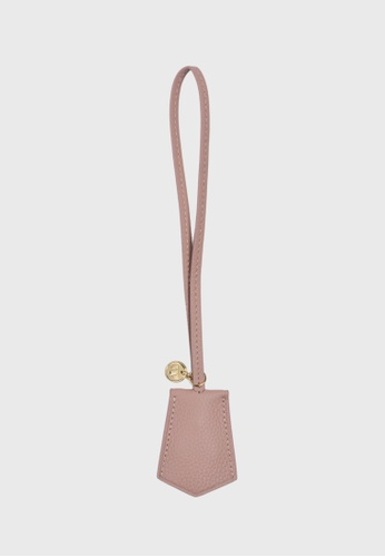 Tocco Toscano pink Aimee Lumine Leather Bag Charm (Dusty Pink) 16CC7AC8910CCCGS_1