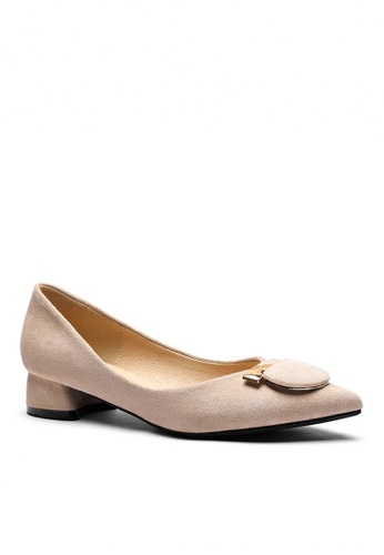 Twenty Eight Shoes 米褐色 2.5CM 尖頭仿皮低踭鞋333-57 7D9E0SHD962F34GS_1