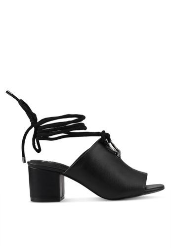 E8 by Miista 黑色 綁帶粗跟魚口鞋 E8283SH0STHXMY_1