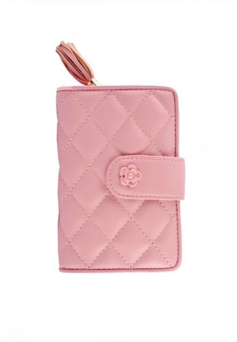 Twenty Eight Shoes pink VANSA Sheep Leather Tri-fold Short Wallet VBW-Wt001 A2D67AC48F351AGS_1