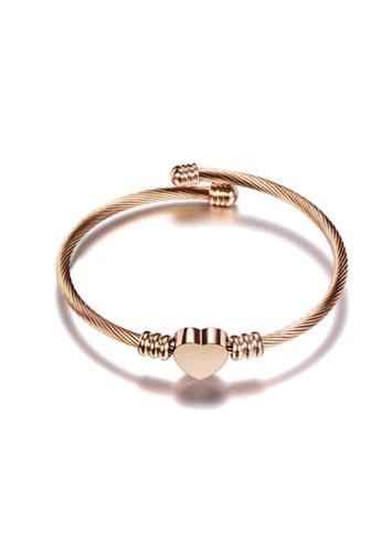 CELOVIS gold CELOVIS - Hathaway Heart Cuff Bangle in Rose Gold 60935AC1ACA1D3GS_1