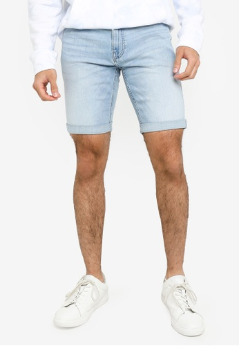 Hollister blue Super Skinny Denim Shorts 3B700AA10C52FBGS_1