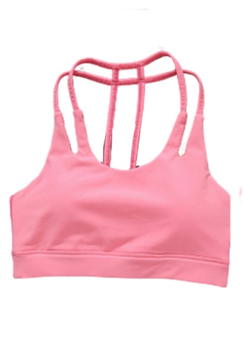 LYCKA pink ZFG7005Lady Quick Drying Running Fitness Yoga Sports Bra -Pink F2ED4US8E4B08AGS_1