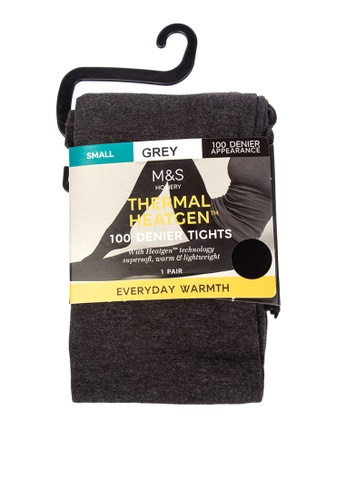 MARKS & SPENCER grey 100 Denier Heatgen™ Opaque Tights A5166AAE1E208AGS_1