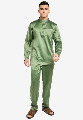 REALFANTASY green BAJU MELAYU SHAH ISKANDAR 70C41AAAD90EC9GS_1