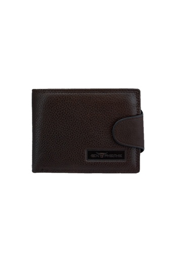 EXTREME brown Extreme Men's Genuine Leather Wallet With Button Closure B7130AC96E679AGS_1