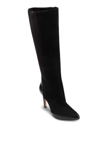 高跟仿麂esprit hk store皮高筒靴, 女鞋, 鞋