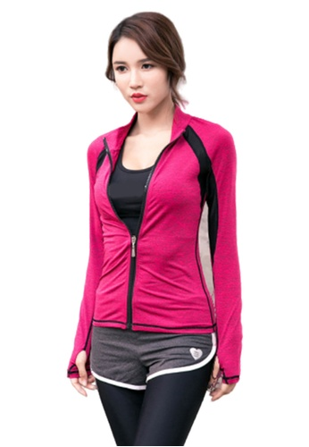 B-Code red ZYG3050-Lady Quick Drying Running Fitness Yoga Sports Jacket D6271AA326B0B3GS_1